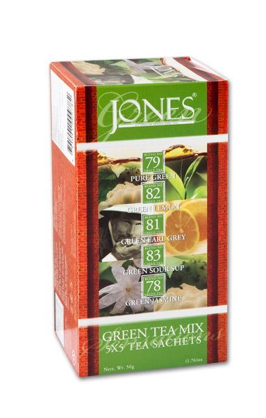 JONES - variace zelených čajů