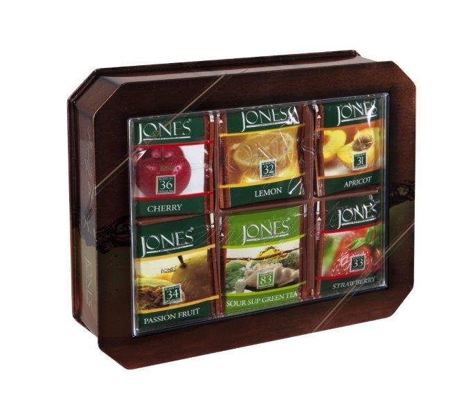 Dárkové balení ovocných čajů JONES v plechovce