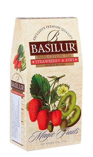 Ovocný čaj - jahoda a kiwi BASILUR