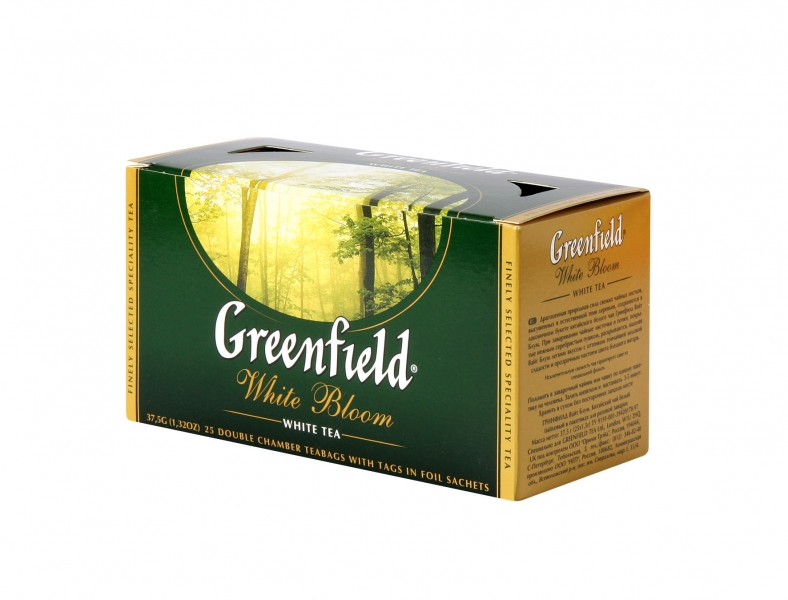 Kvalitní bílý čaj GREENFIELD, 25 sáčků momentálně nedostupný
