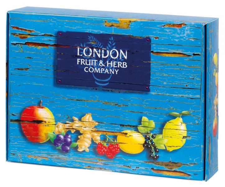 Dárkové balení čaje LONDON 30 ks, modrá