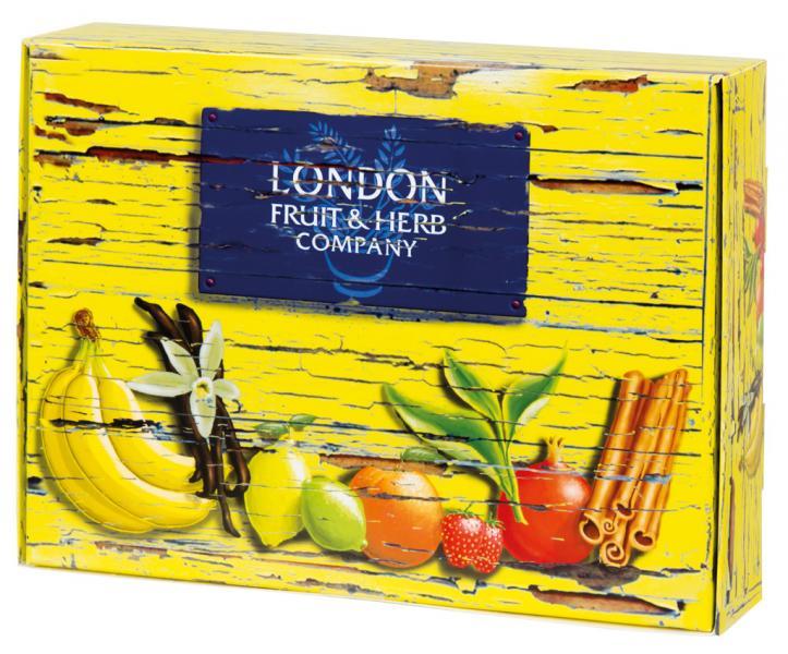 Dárkové balení čaje LONDON 30 ks, žlutá