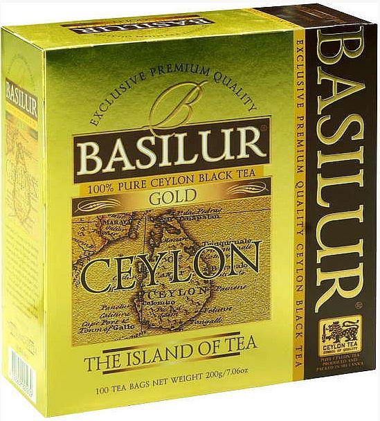 Černý čaj Basilur Gold, 100 ks