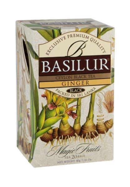 Zázvorový čaj BASILUR, 20 ks