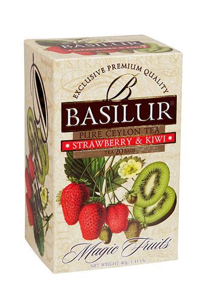 Ovocný čaj jahoda+kiwi BASILUR, 20 ks