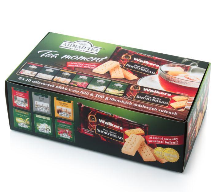 Kolekce exkluzivních čajů a máslových tyčinek vyprodáno