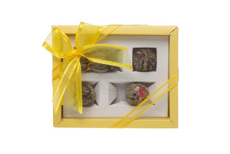 Dárková sada 4 kvetoucích čajů