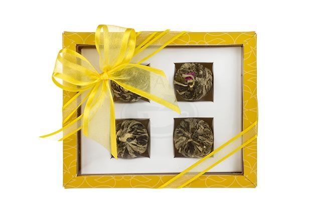 Dárková sada 4 kvetoucích čajů Asteria žlutá
