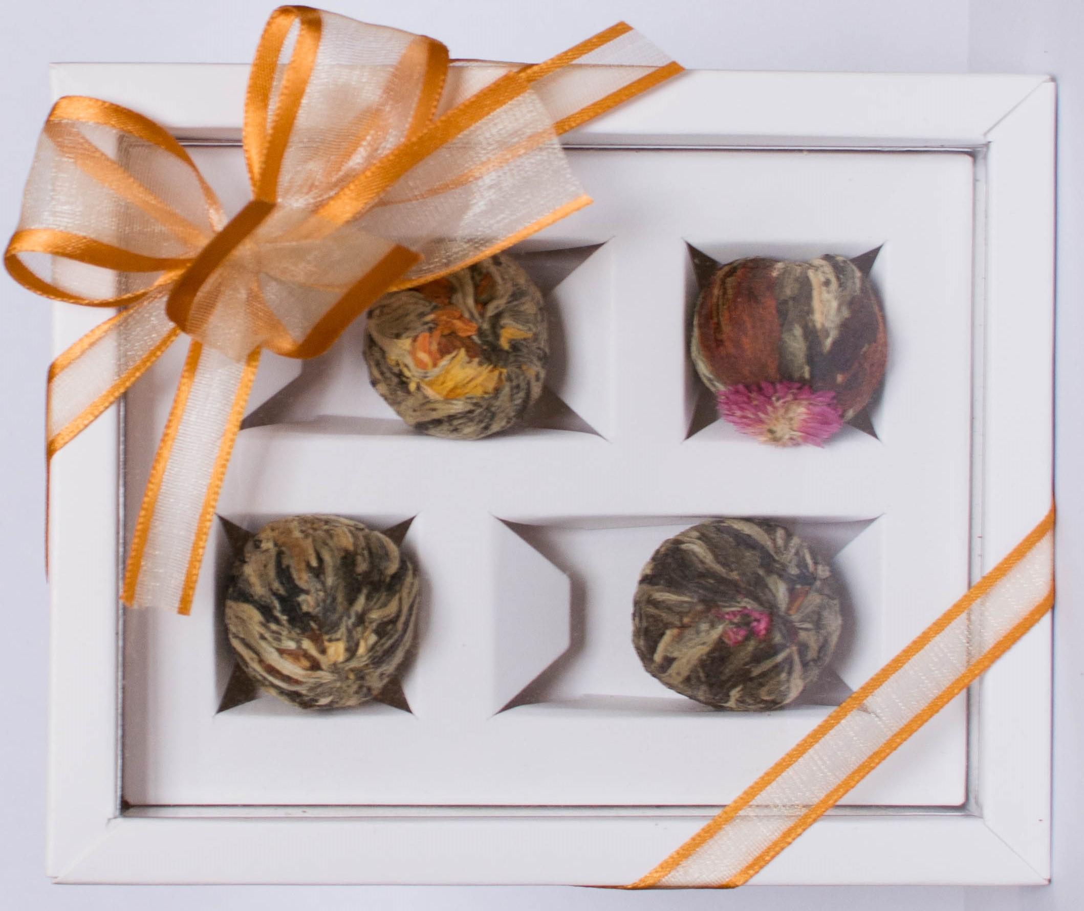 DOPRODEJ! Dárkové balení 4 kvetoucích čajů