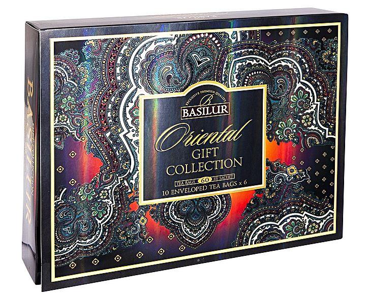 Dárková kazeta černých a ovocných čajů Basilur