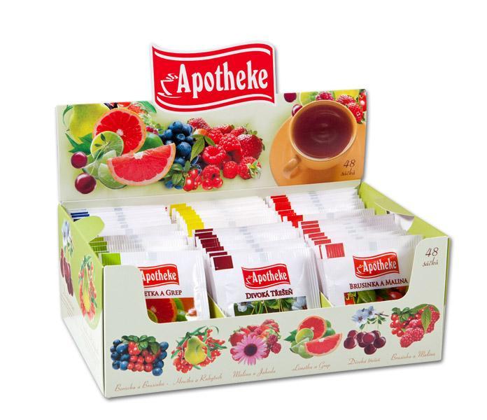Kolekce ovocných čajů 48 sáčků Apotheke