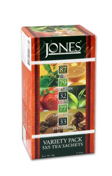 JONES Variace 5 druhů čajů